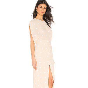 L'Academie from Revolve Phoebe Midi Dress Beige S